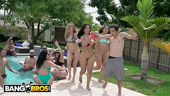 Bangbros - Latin Babes Along Hefty Tits And Hefty Asses Getting Fucked Found In Fuck Pool Party
