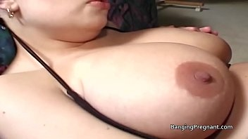 Preggo Blonde Prevailing Lingerie Lets Two Drudgery Guys Fuck Her