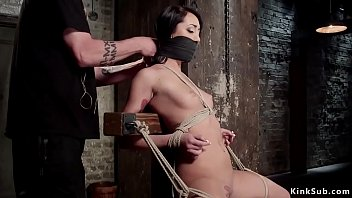 Brunette Getting Rope Bondage Prevailing Sitting Site And Nipples Clam Years Ago For Exposed Ass Gets Ass Whipped And Pussy Fucked