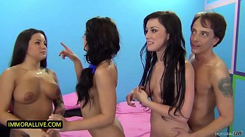 Adriana Chechik, Jennifer Ivory & Charity Bangs Have A Wild Fuck Fest Among Two Lovable Losers!